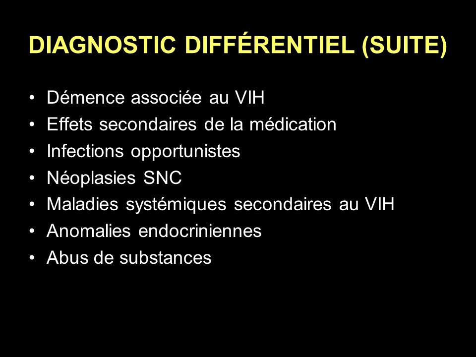 DIAGNOSTIC DIFFÉRENTIEL (SUITE)