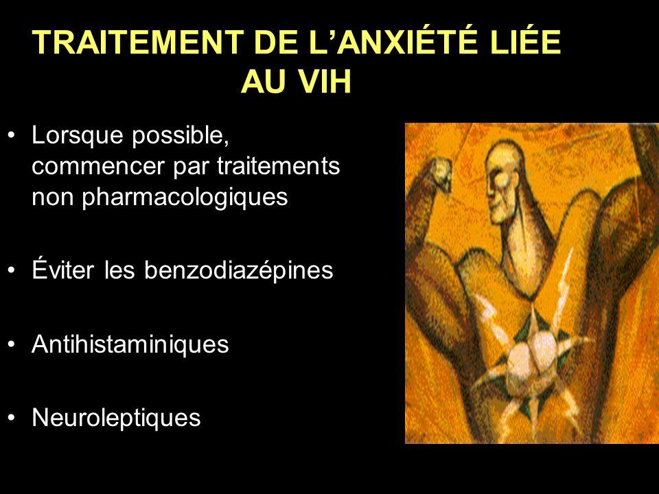 TRAITEMENT DE L'ANXIÉTÉ LIÉE AU VIH
