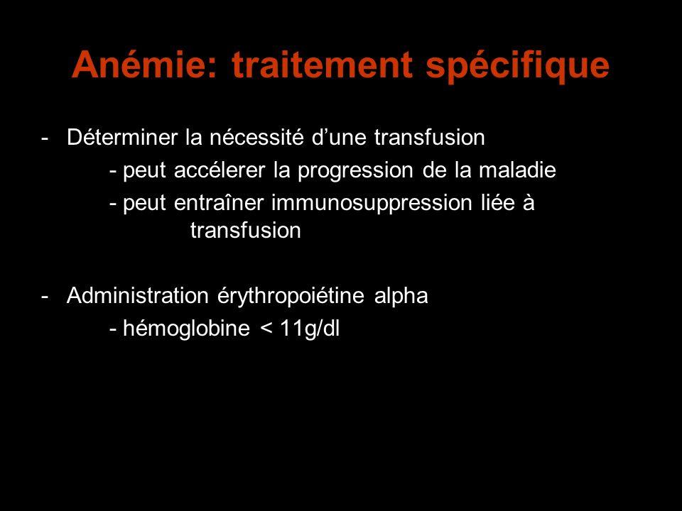 Anémie: traitement spécifique