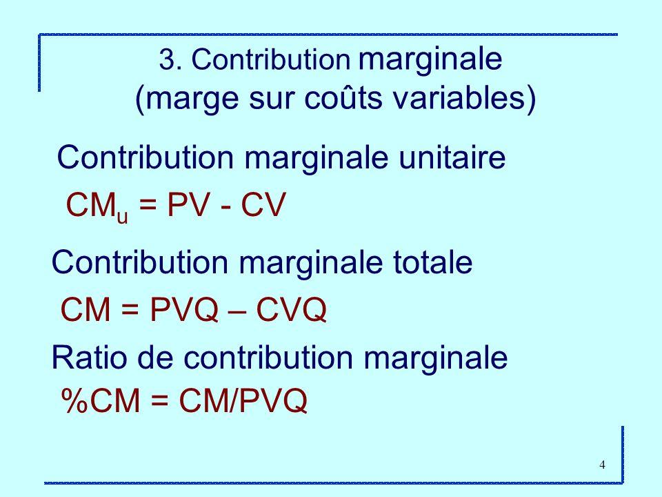 3. Contribution marginale (marge sur coûts variables)