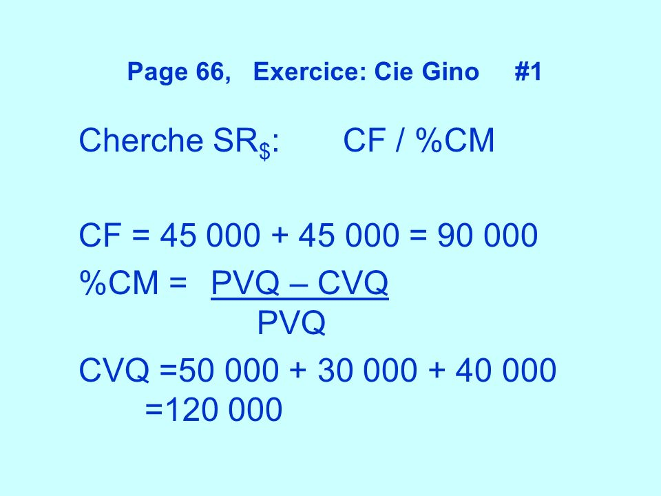 Page 66, Exercice: Cie Gino #1