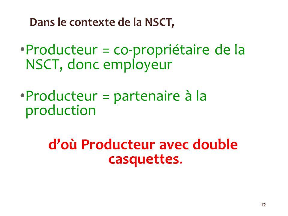 Dans le contexte de la NSCT,