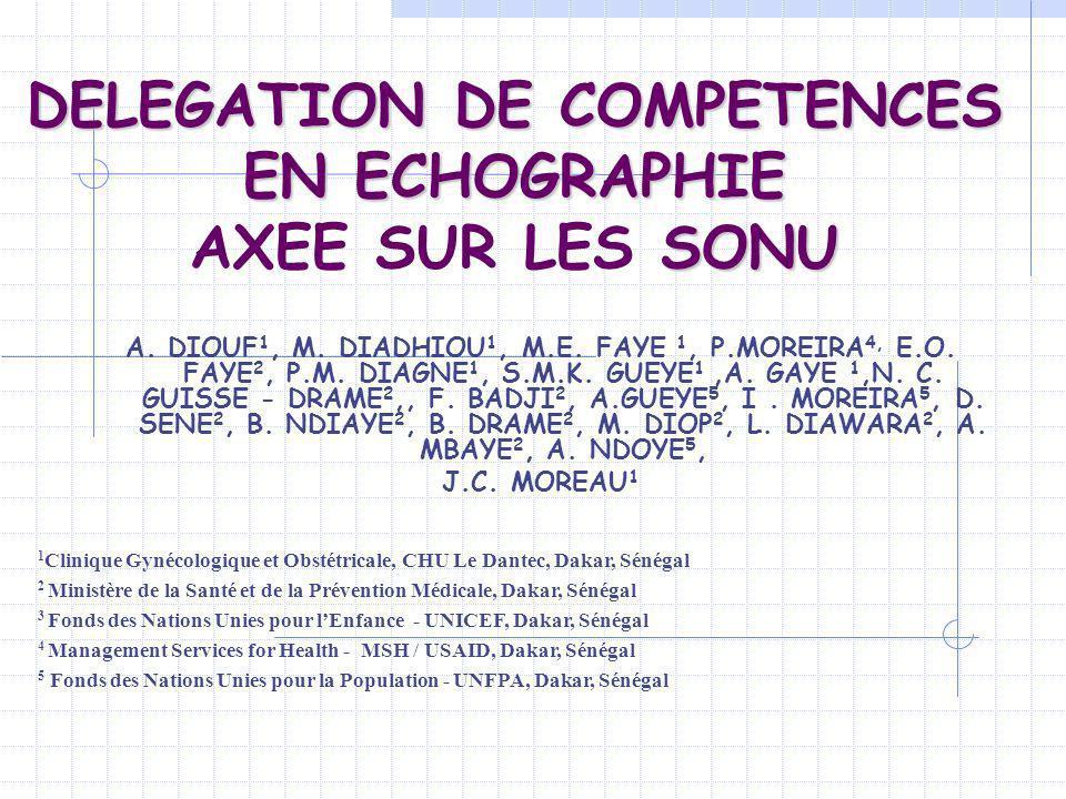 DELEGATION DE COMPETENCES EN ECHOGRAPHIE AXEE SUR LES SONU