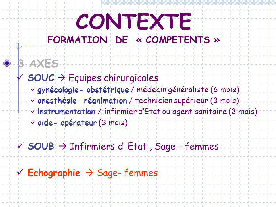 FORMATION DE « COMPETENTS »