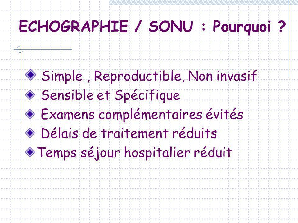 ECHOGRAPHIE / SONU : Pourquoi