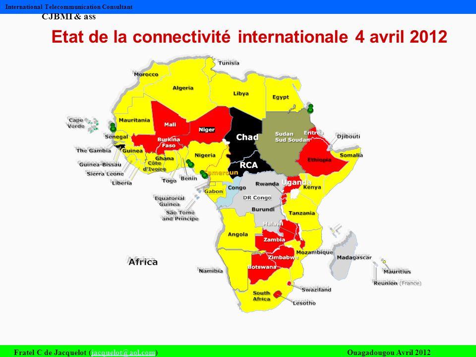 Etat de la connectivité internationale 4 avril 2012