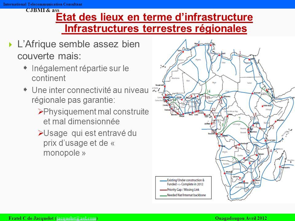 Etat des lieux en terme d'infrastructure Infrastructures terrestres régionales