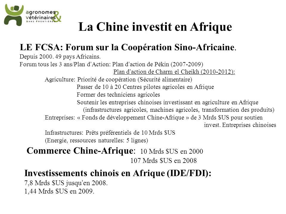 La Chine investit en Afrique