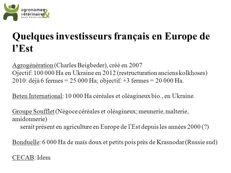 Quelques investisseurs français en Europe de l'Est
