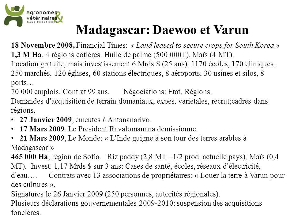 Madagascar: Daewoo et Varun