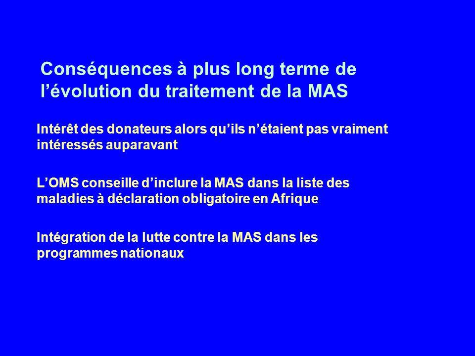 Conséquences à plus long terme de l'évolution du traitement de la MAS