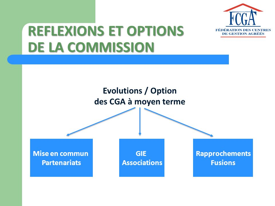 REFLEXIONS ET OPTIONS DE LA COMMISSION