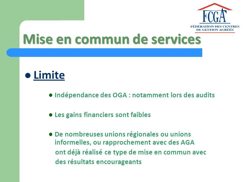 Mise en commun de services