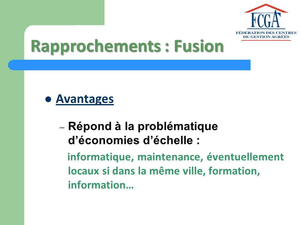 Rapprochements : Fusion