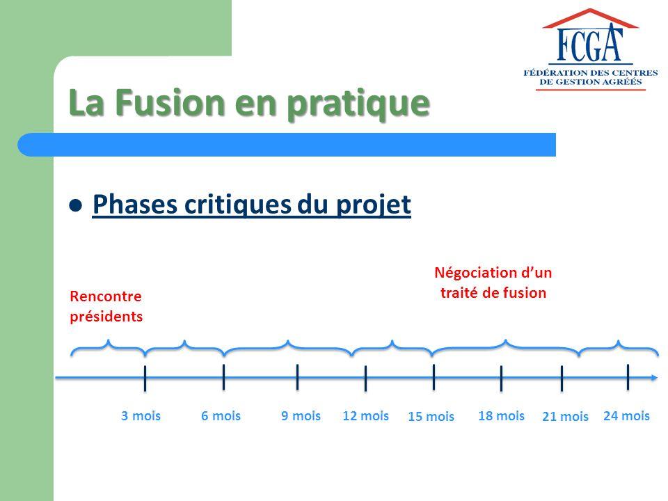 La Fusion en pratique Phases critiques du projet Négociation d'un