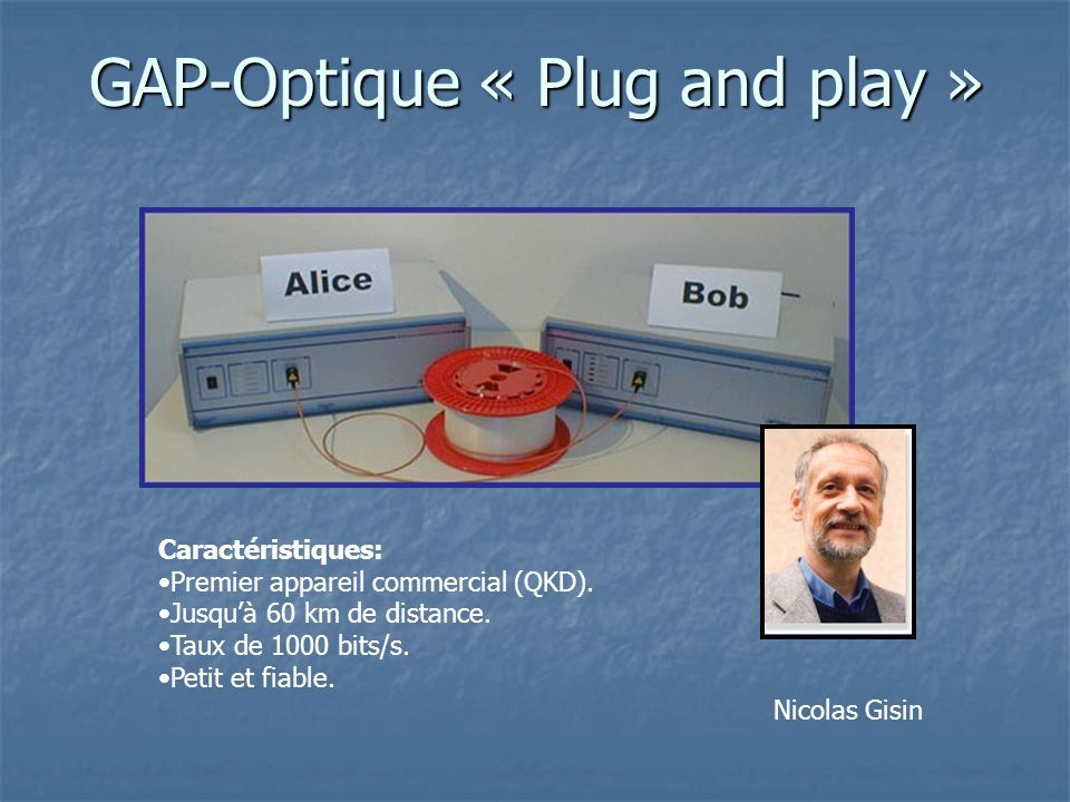 GAP-Optique « Plug and play »