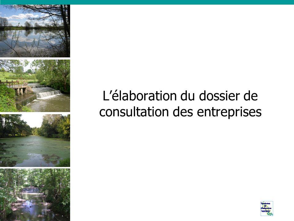 L'élaboration du dossier de consultation des entreprises