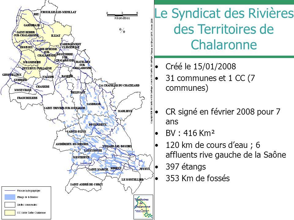 Le Syndicat des Rivières des Territoires de Chalaronne