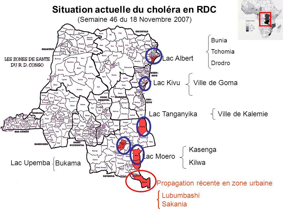 Situation actuelle du choléra en RDC (Semaine 46 du 18 Novembre 2007)