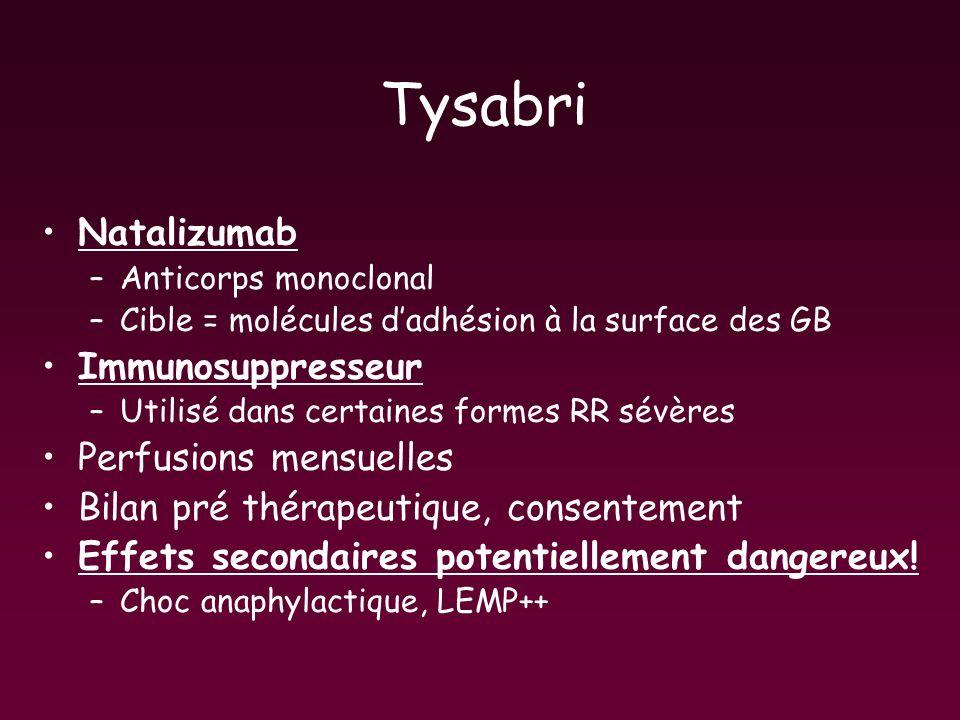 Tysabri Natalizumab Immunosuppresseur Perfusions mensuelles