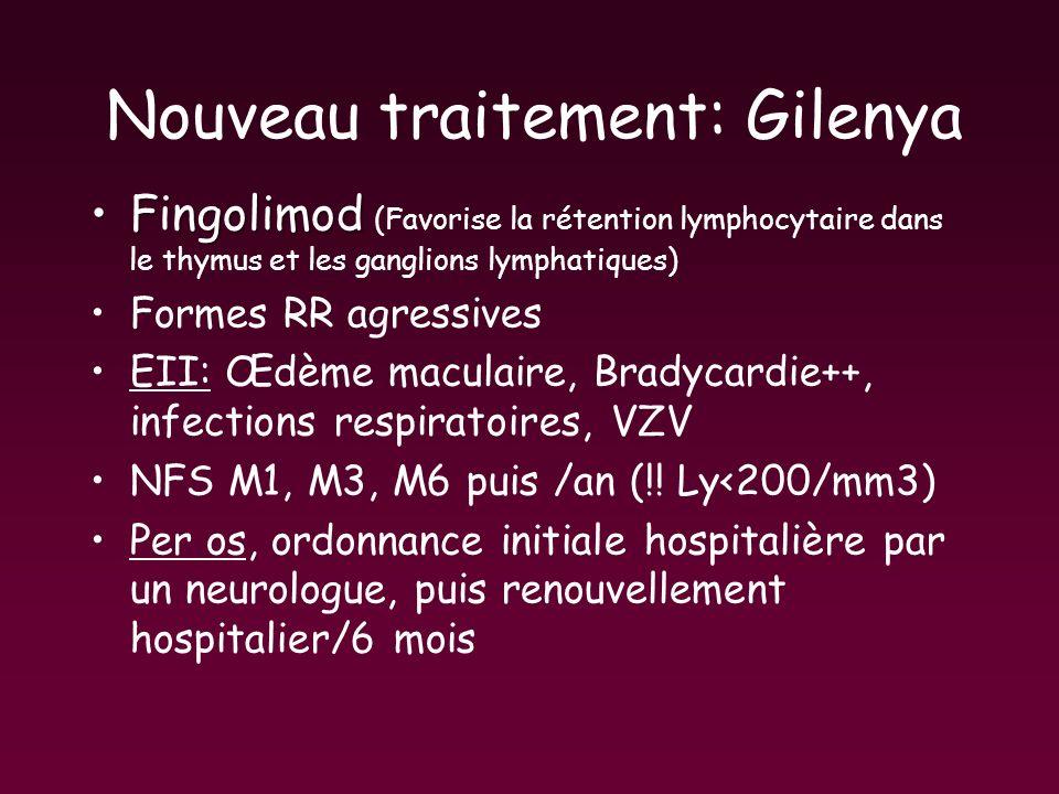 Nouveau traitement: Gilenya