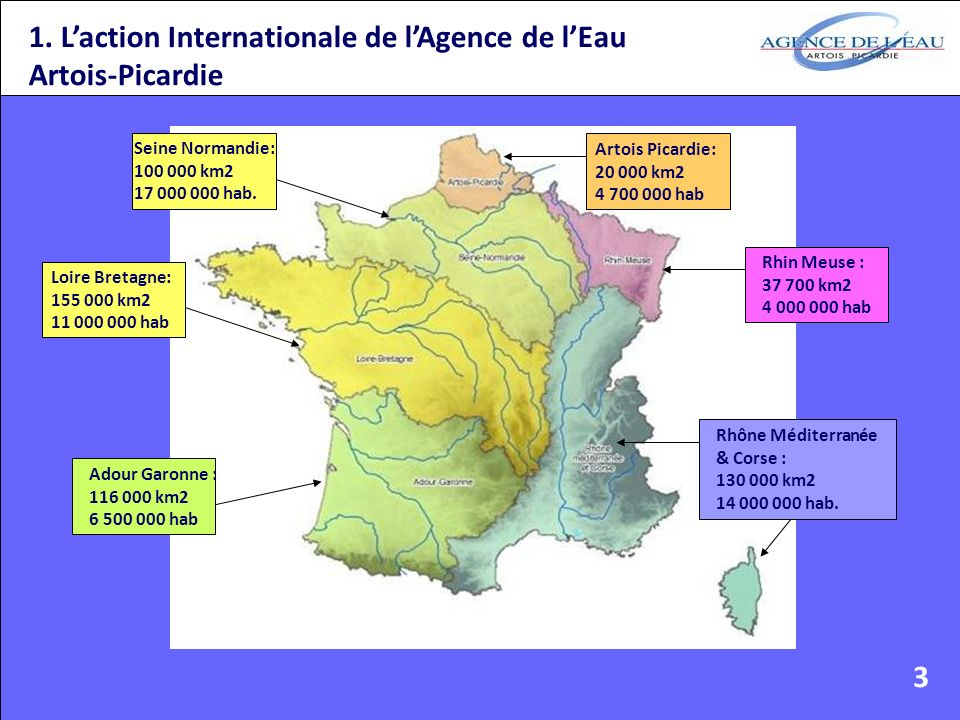 1. L'action Internationale de l'Agence de l'Eau Artois-Picardie