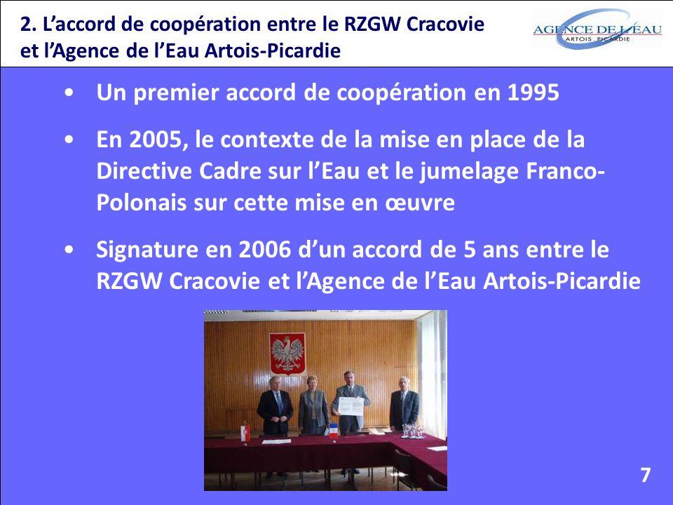 Un premier accord de coopération en 1995