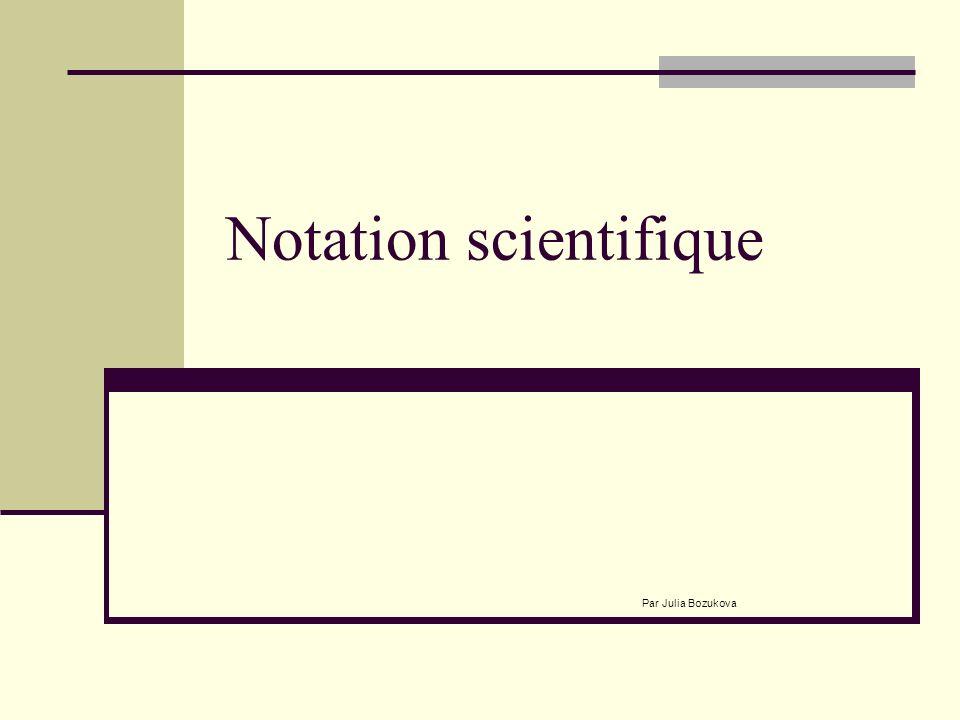 Notation scientifique
