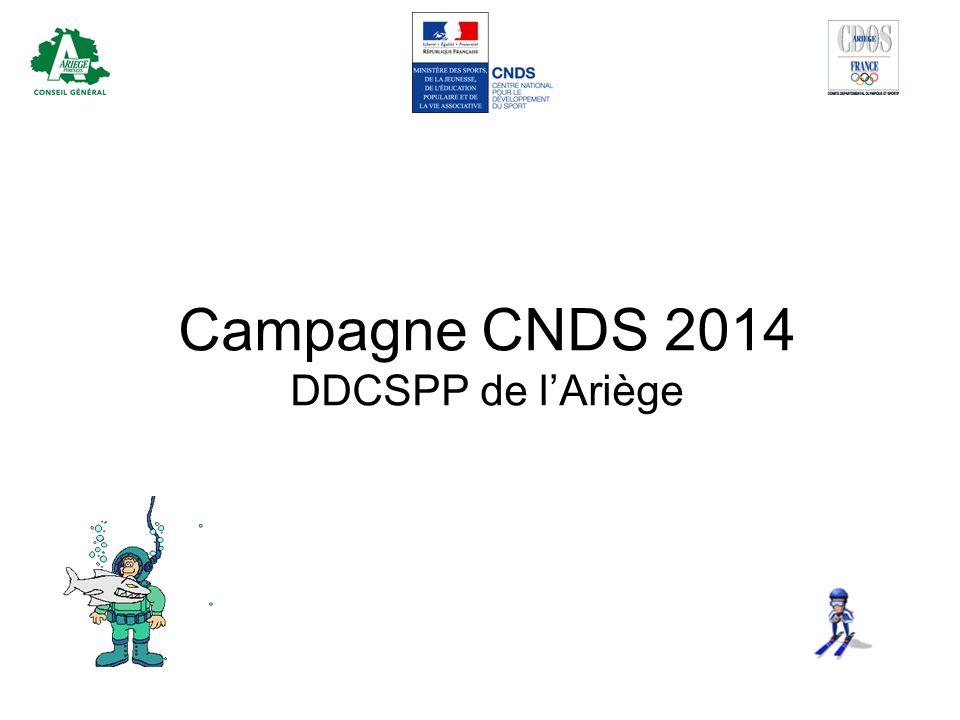Campagne CNDS 2014 DDCSPP de l'Ariège