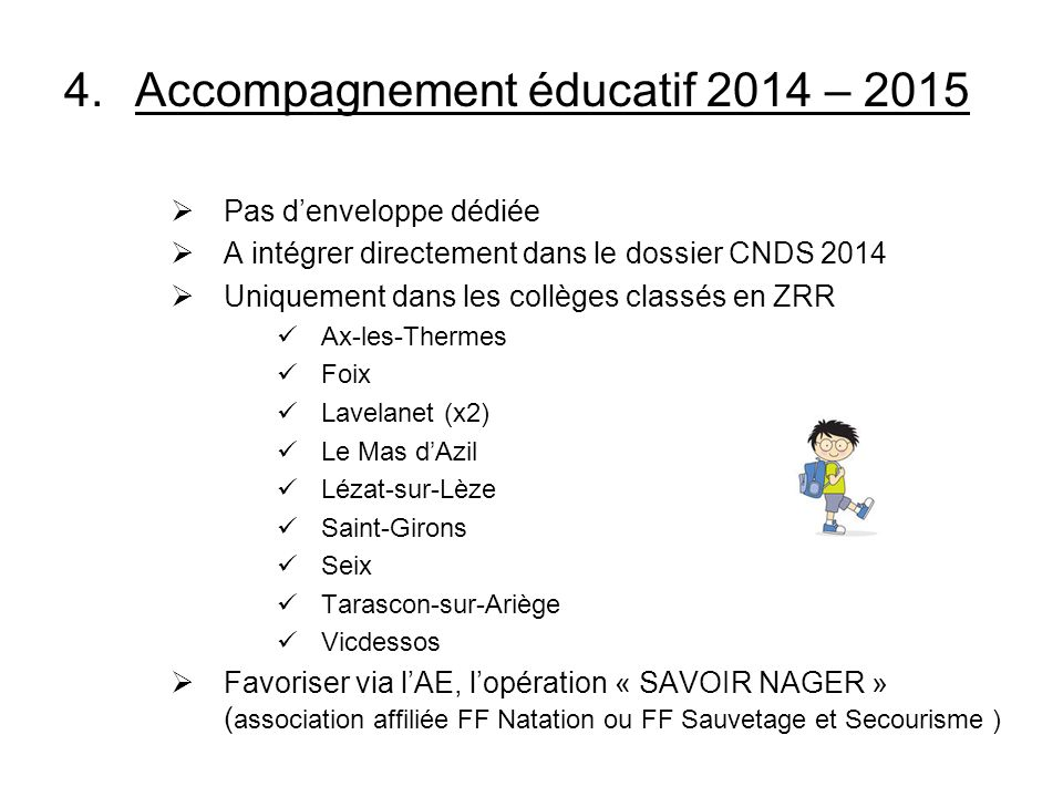 Accompagnement éducatif 2014 – 2015