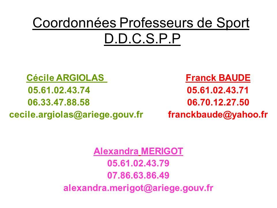 cecile.argiolas@ariege.gouv.fr franckbaude@yahoo.fr