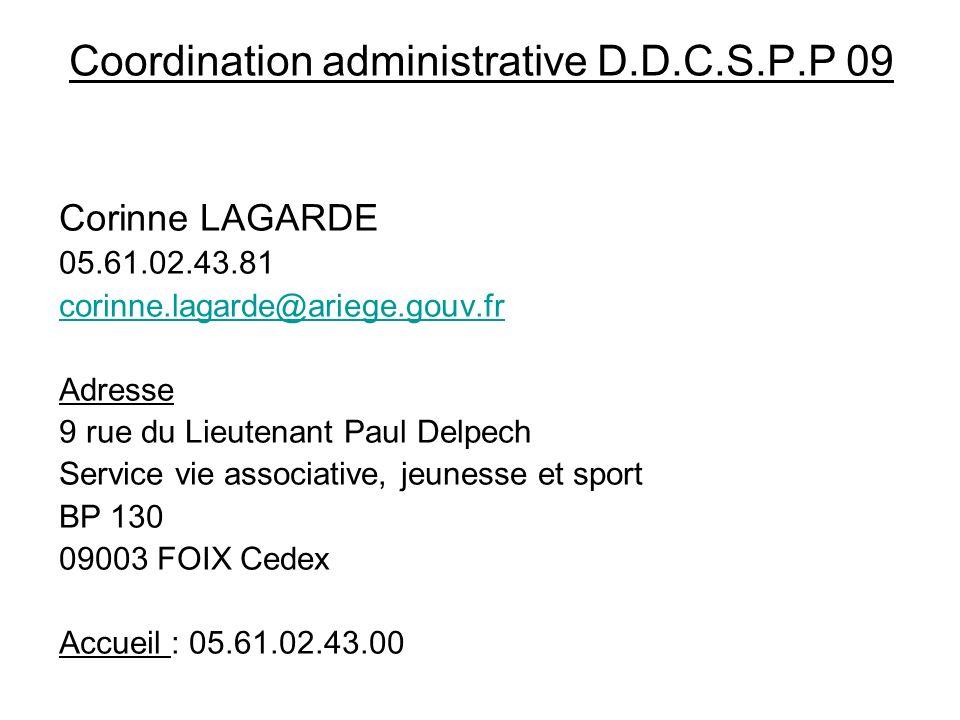 Coordination administrative D.D.C.S.P.P 09