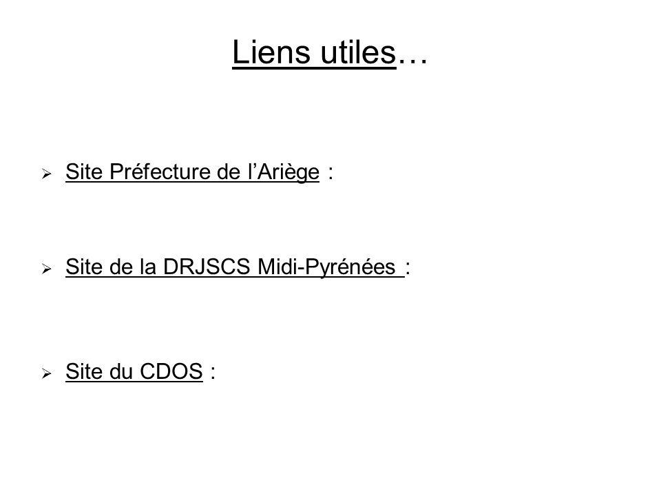 Liens utiles… Site Préfecture de l'Ariège :