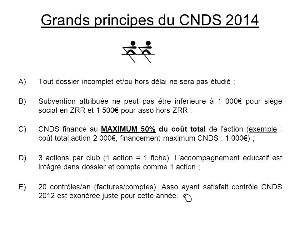 Grands principes du CNDS 2014
