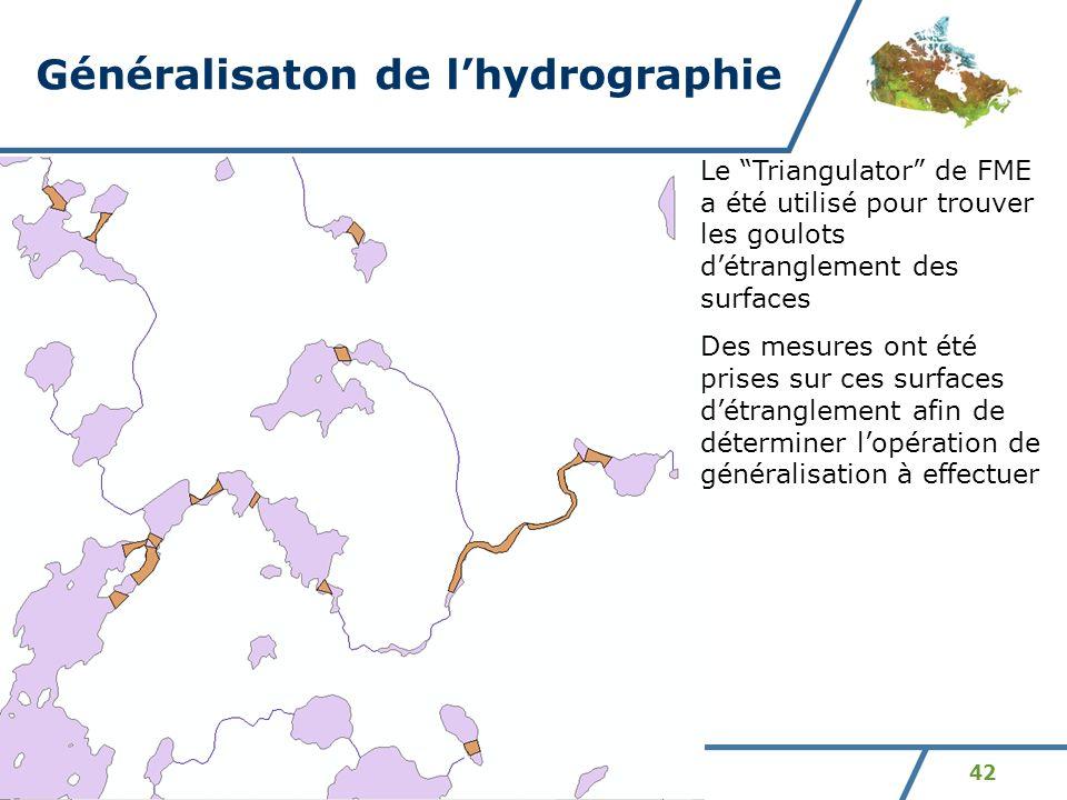 Généralisaton de l'hydrographie