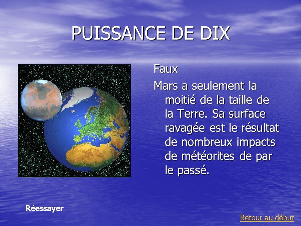 PUISSANCE DE DIX Faux.