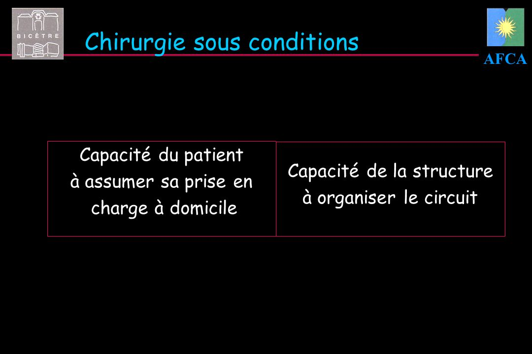 Chirurgie sous conditions