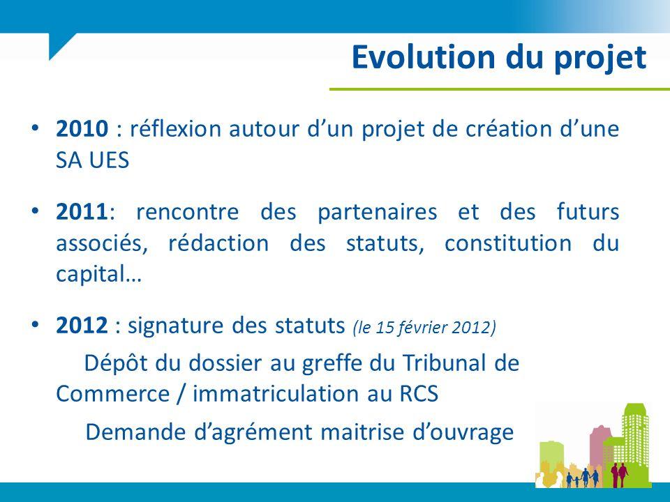 Evolution du projet 2010 : réflexion autour d'un projet de création d'une SA UES.