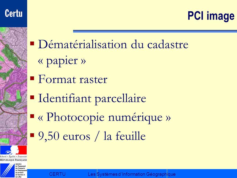 Dématérialisation du cadastre « papier » Format raster