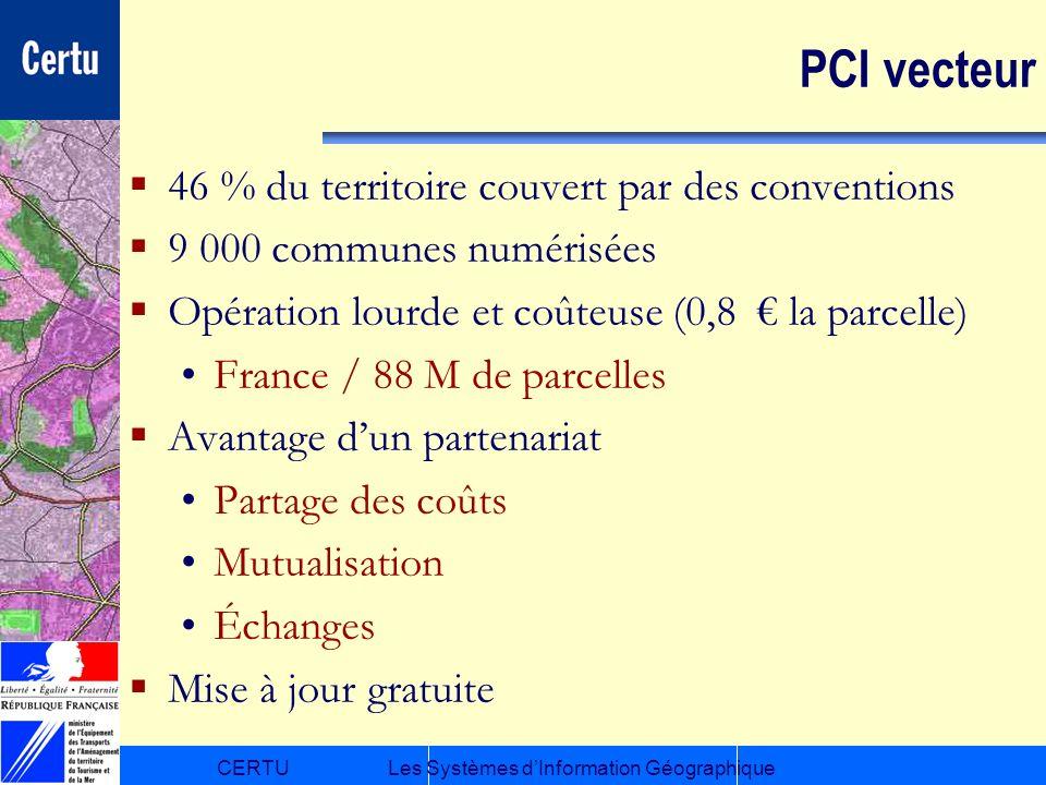PCI vecteur 46 % du territoire couvert par des conventions