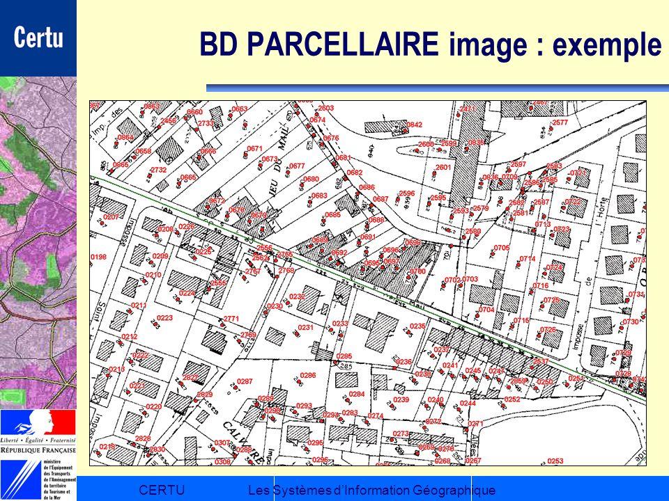 BD PARCELLAIRE image : exemple