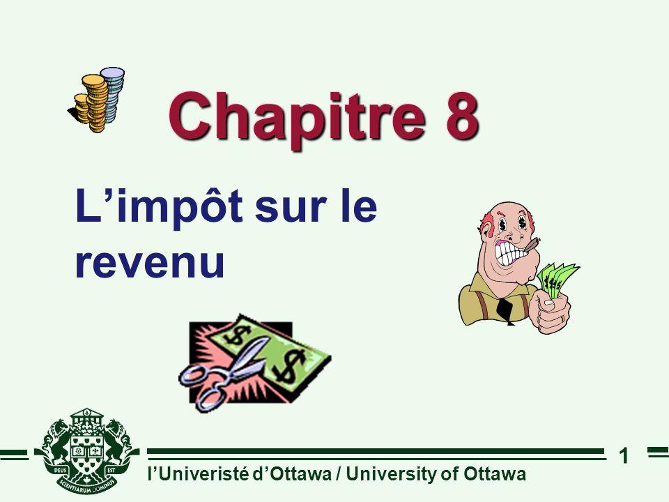 Chapitre 8 L'impôt sur le revenu