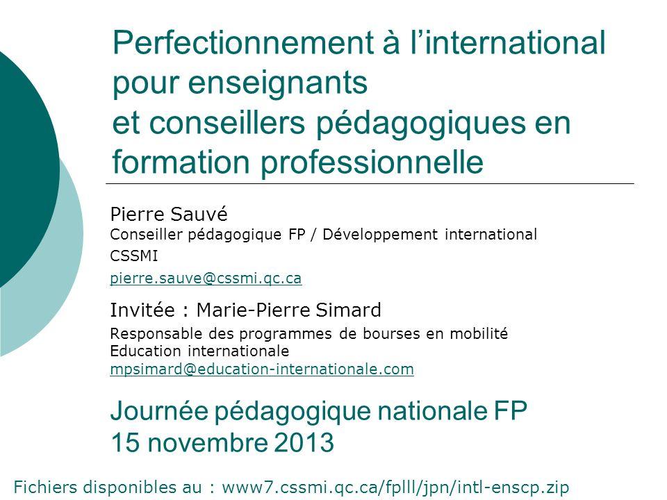 Perfectionnement à l'international pour enseignants et conseillers pédagogiques en formation professionnelle