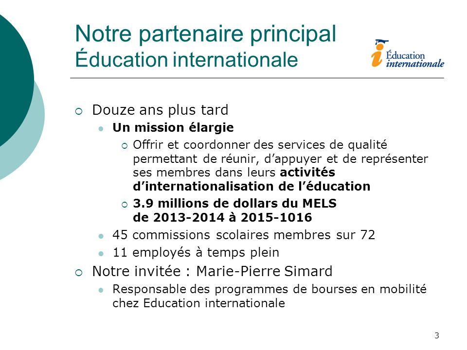 Notre partenaire principal Éducation internationale