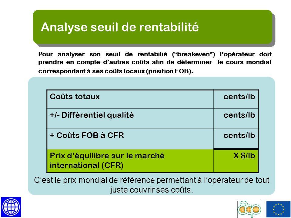 Analyse seuil de rentabilité