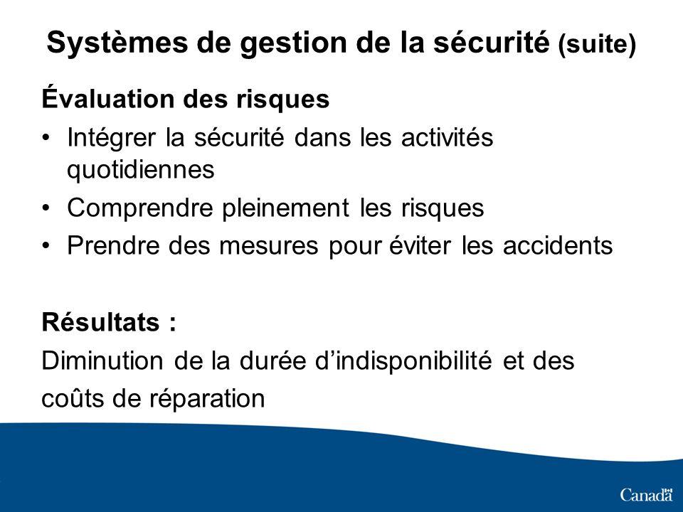 Systèmes de gestion de la sécurité (suite)