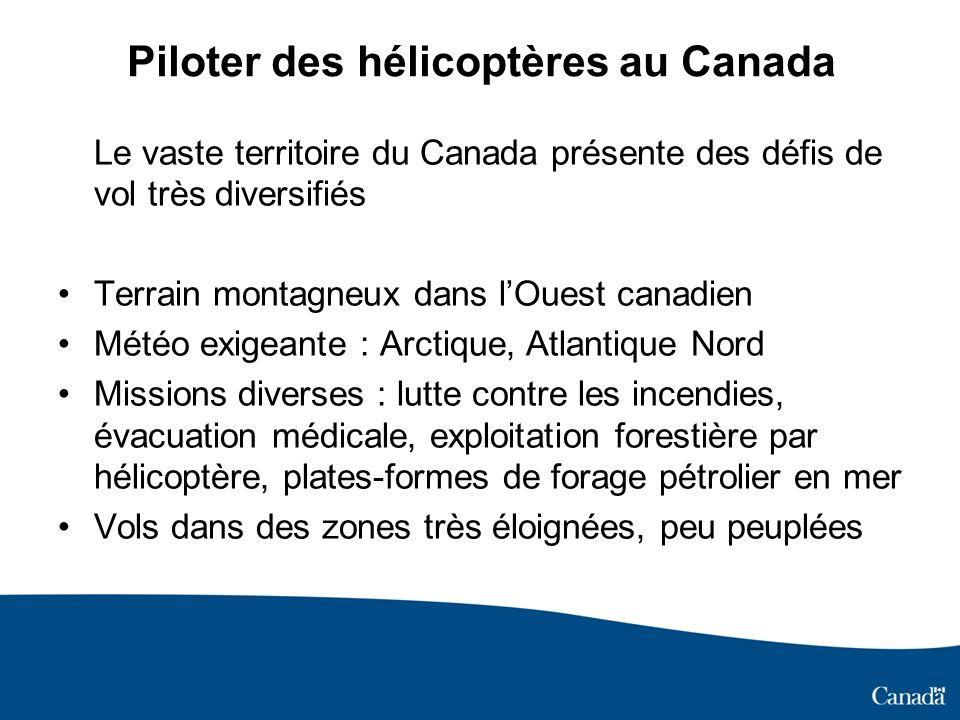 Piloter des hélicoptères au Canada