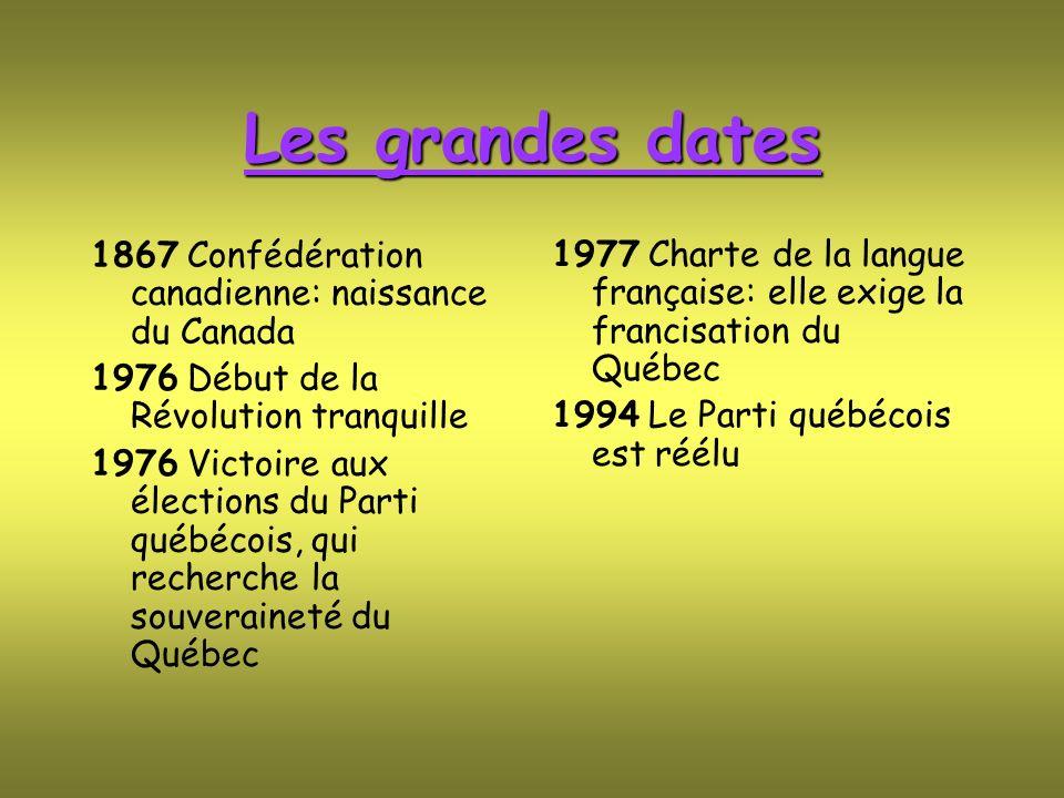 Les grandes dates 1867 Confédération canadienne: naissance du Canada