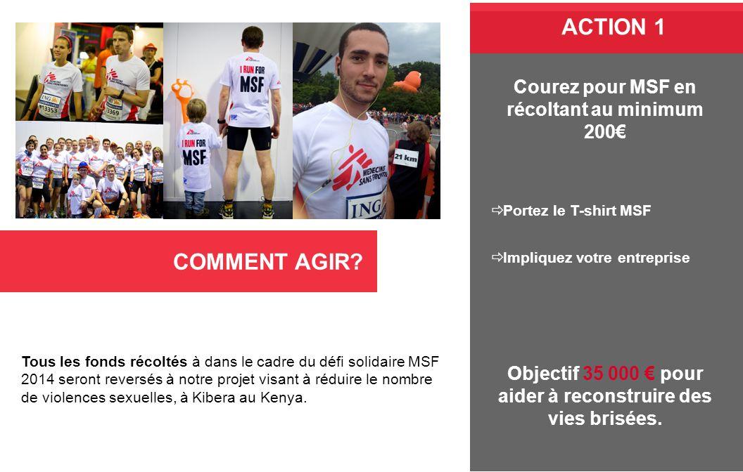 ACTION 1 COMMENT AGIR Courez pour MSF en récoltant au minimum 200€