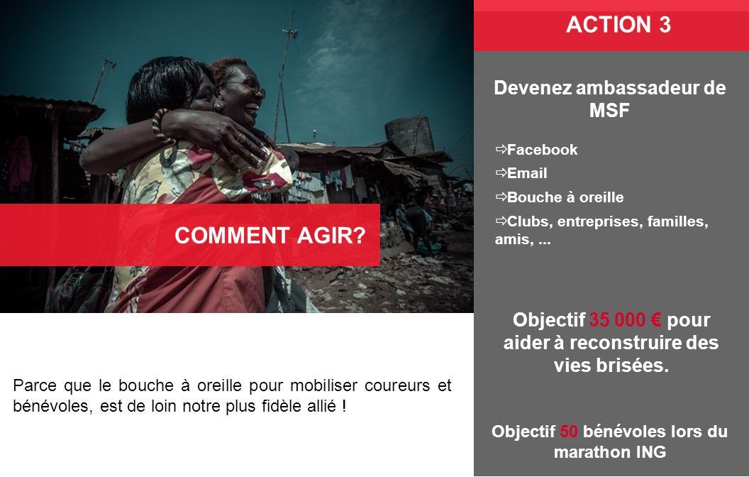 ACTION 3 COMMENT AGIR Devenez ambassadeur de MSF